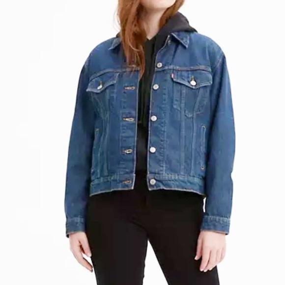 LEVI'S Women's EX-BOYFRIEND Denim TRUCKER Jacket